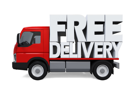 haulage: Delivery Van with Free Delivery Text