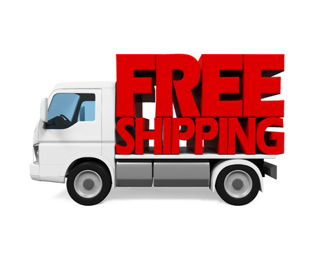 haulage: Delivery Van with Free Shipping Text