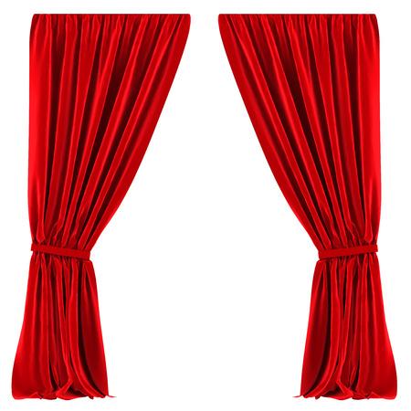 cortinas rojas: Cortinas rojas aisladas