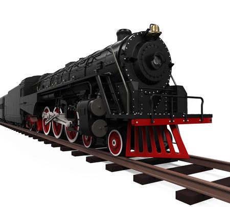 Locomotive à vapeur train Banque d'images
