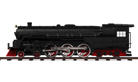 Steam Locomotive Train 免版税图像 - 58991245