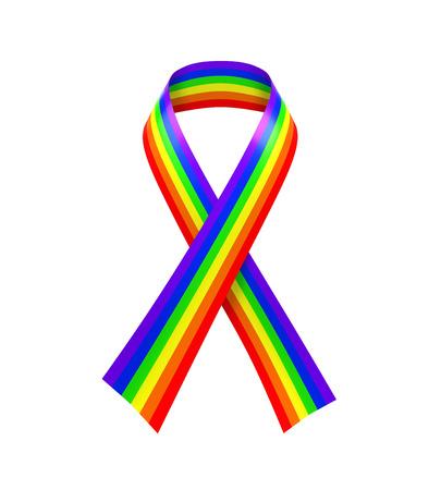 transexual: Cinta del arco iris aislado