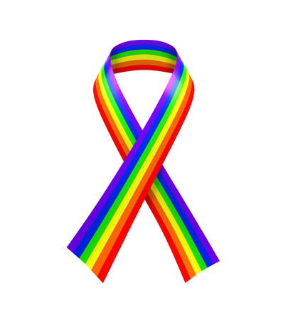 bisexuality: Rainbow Ribbon Isolated