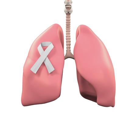 bronchitis: Lungs and Lung Cancer Awareness Ribbon
