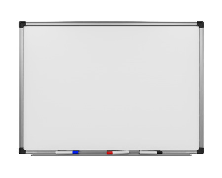 whiteboard: Blank Whiteboard Isolated