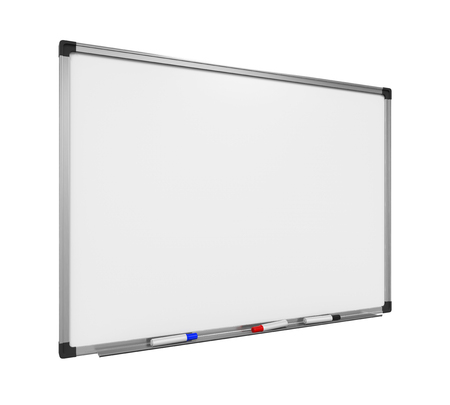 dry erase board: Blank Whiteboard Isolated