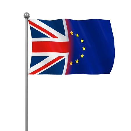 remain: United Kingdom and European Union Flags