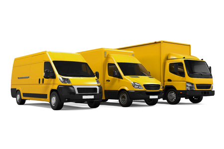 Yellow Delivery Vans Фото со стока - 61827256
