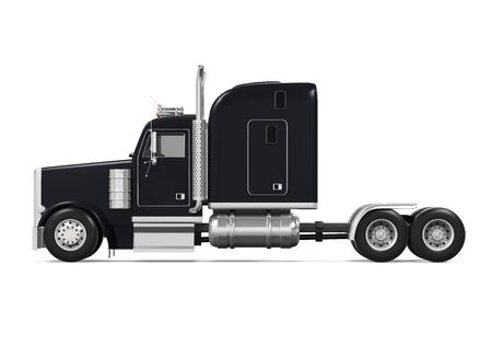 diesel: Black Trailer Truck