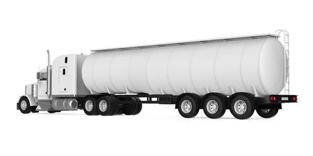 fuel truck: Fuel Tanker Truck Stock Photo