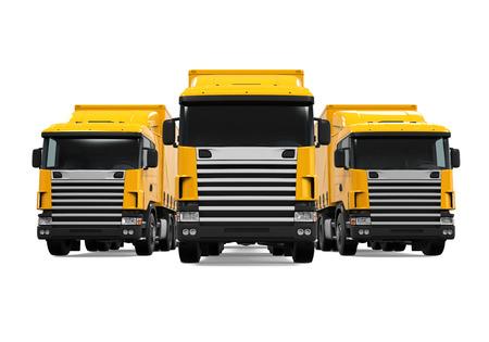 fleet: Trailer Truck Fleet Stock Photo