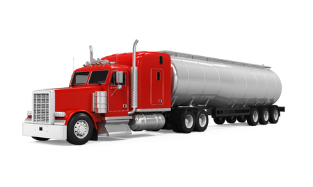 Red Fuel Tanker Truck