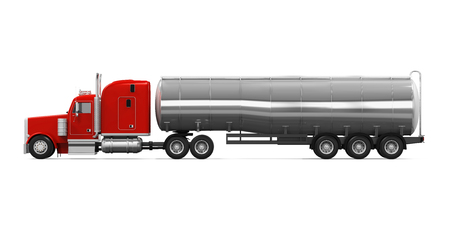 Red Kraftstoff-Tanker-LKW