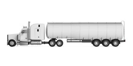 barco petrolero: Camiones cisterna de combustible  Foto de archivo