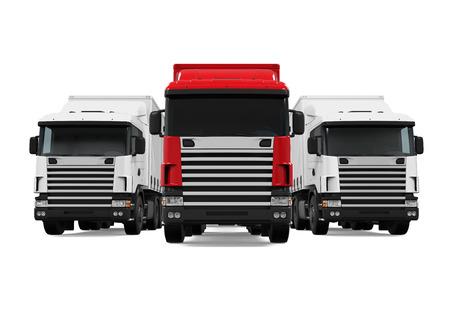 Trailer Truck Fleet 写真素材