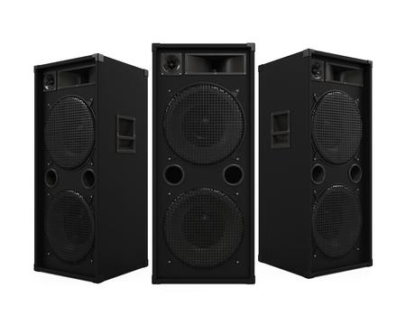 Large Audio Speakers Stock Photo
