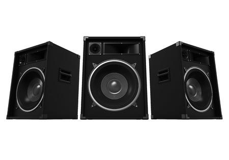 woofer: Large Audio Speakers Stock Photo