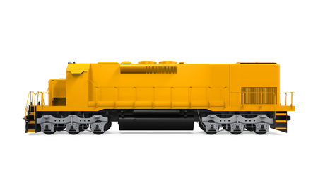 Gele Freight Train Stockfoto