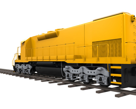 vehicle track: Yellow Freight Train