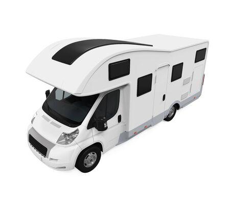 rv: RV Caravan Isolated Stock Photo