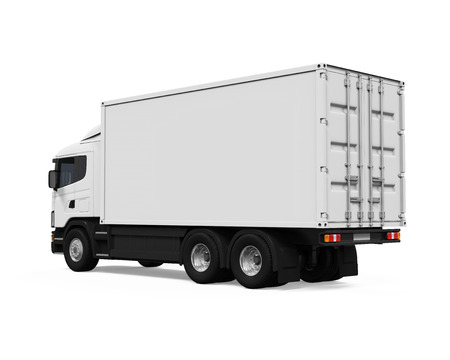 delivery truck: Cargo Delivery Truck Stock Photo