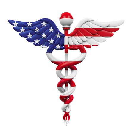 aesculapius: Caduceus American Flag
