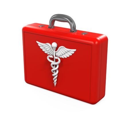 First Aid Kit with Caduceus Symbol