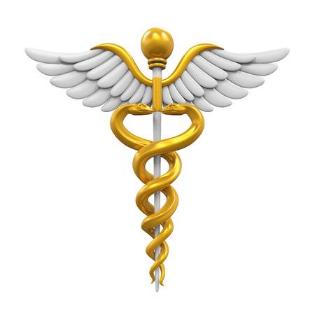 estrella de la vida: Caduceus médico Símbolo
