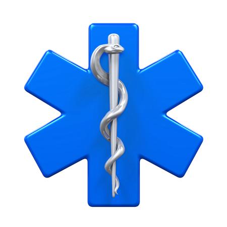 caduceus symbol: Star of Life Symbol Stock Photo