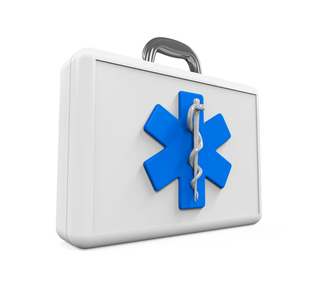 staff of aesculapius: First Aid Kit with Star of Life Symbol