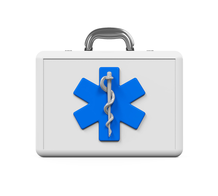 first aid kit: First Aid Kit with Star of Life Symbol
