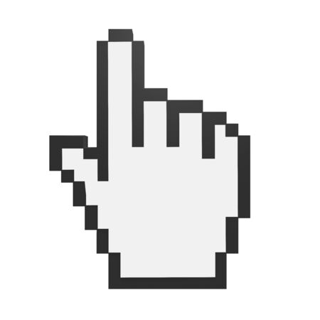 pointed arrows: Hand Cursor Isolated