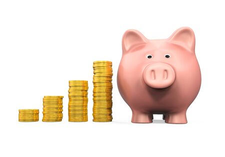 coin bank: Piggy Bank and Money Coin