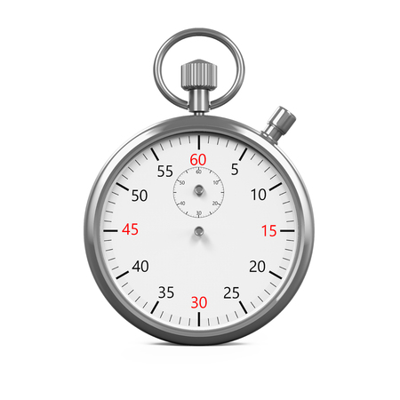 timescale: Stopwatch Timer Isolated Stock Photo