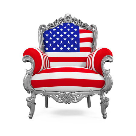 Throne Chair with USA Flag