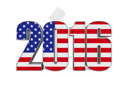 2016 Text with USA Flag