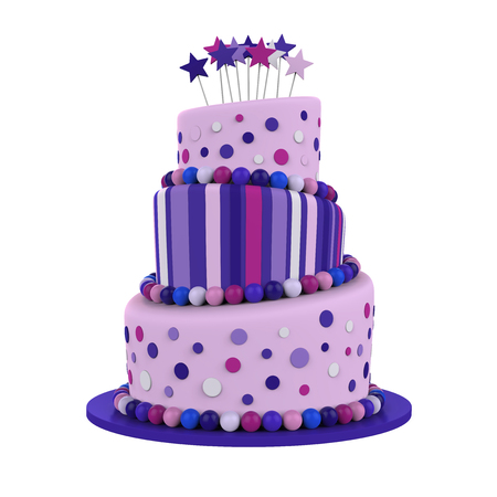 tiered: Tiered Cakes Isolated