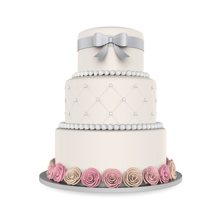 cake background: Tiered Cakes Isolated