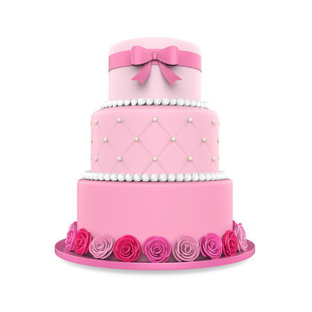 three layer: Tiered Cakes Isolated