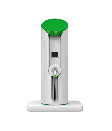electric vehicle: Electric Vehicle Charging Station Stock Photo