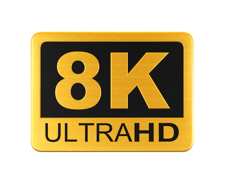 Ultra HD 8K Icon Stock fotó