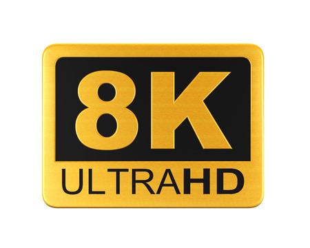 hd: Ultra HD 8K Icon Stock Photo