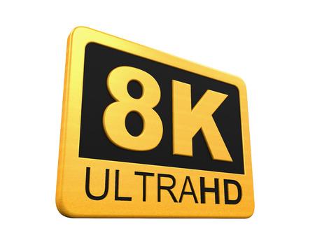 ultra: Ultra HD 8K Icon Stock Photo
