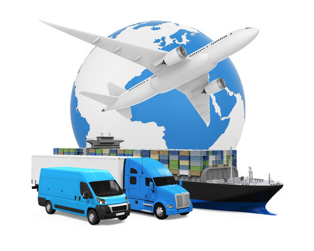World Wide Transport de marchandises Banque d'images - 62346227