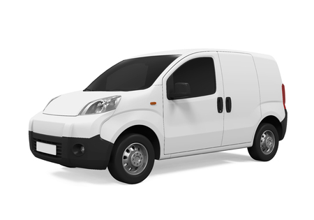 Delivery Van Isolated Banque d'images