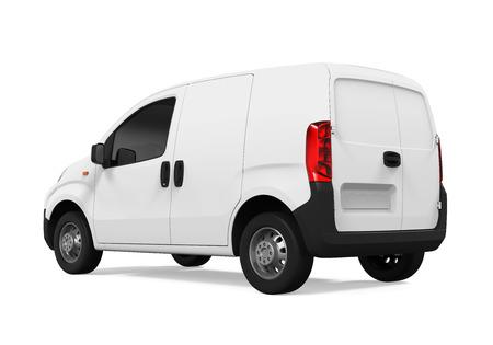 haulage: Delivery Van Isolated Stock Photo