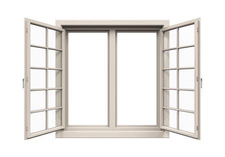 Fensterrahmen isoliert Standard-Bild