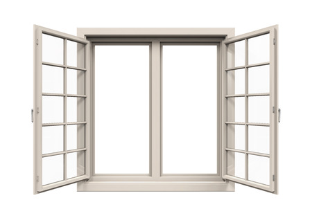 window view: Window Frame Isolated