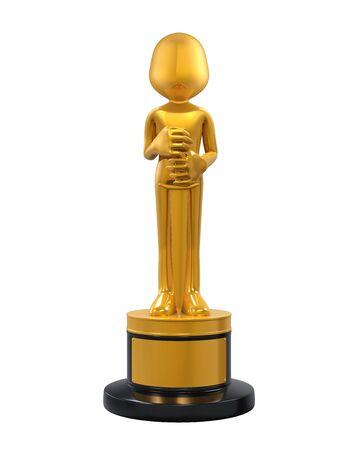 blockbuster: Golden Statuette Award Stock Photo