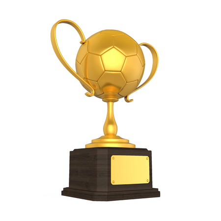 golden ball: Golden Soccer Trophy